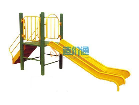 大型户外木制滑滑梯图片